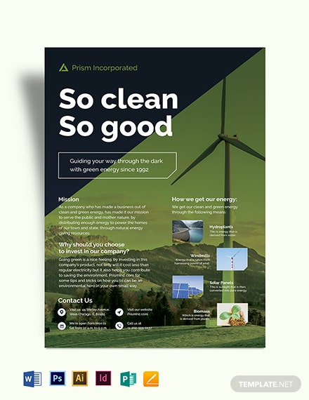 Environmental Company Flyer Template