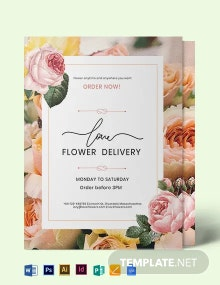 Flower Delivery Service Flyer Template