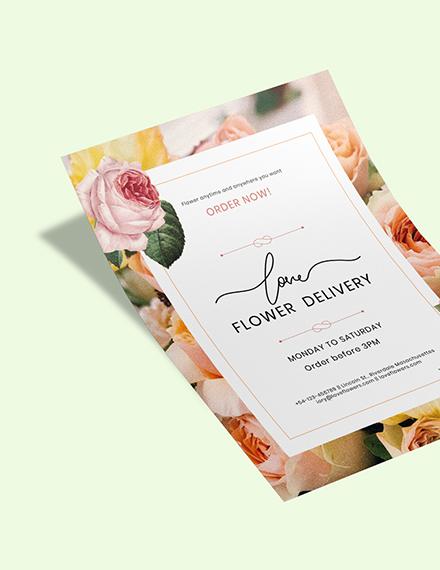 Flower Delivery Service Flyer Download