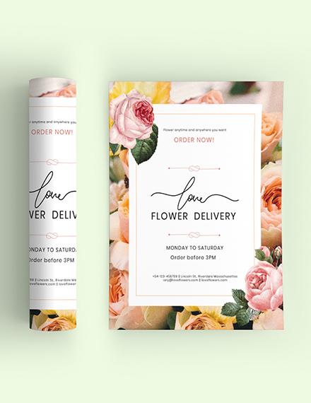 Sample Flower Delivery Service Flyer