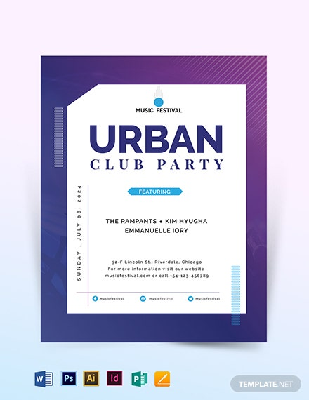 Futuristic Club Flyer Template