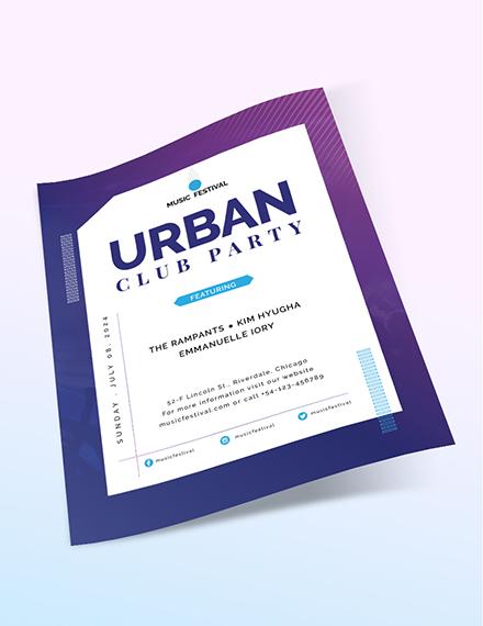 Sample Futuristic Club Flyer