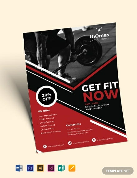 health and fitness flyer template 440x570 1