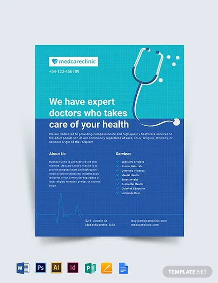 Healthcare Clinic Flyer Template