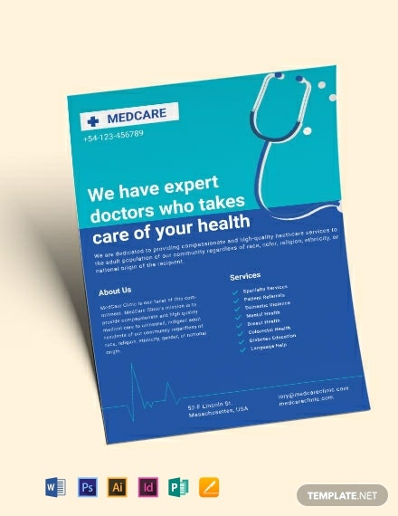 healthcare clinic flyer template 440x570 1