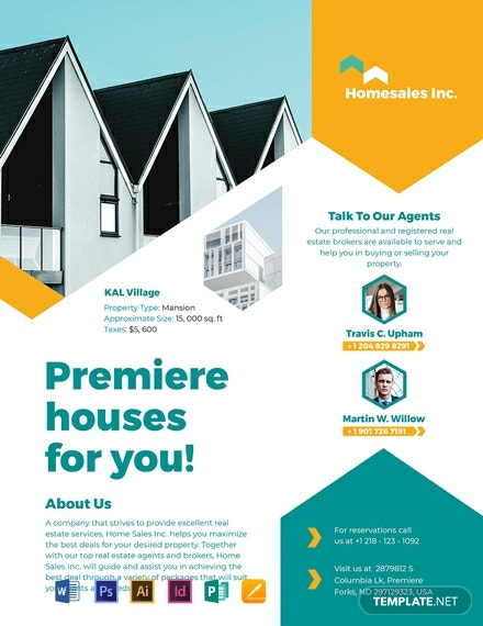 house for sale flyer template 440x570 1