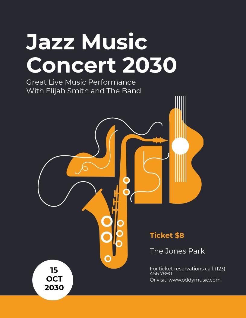 Jazz Concert Flyer Template.jpe
