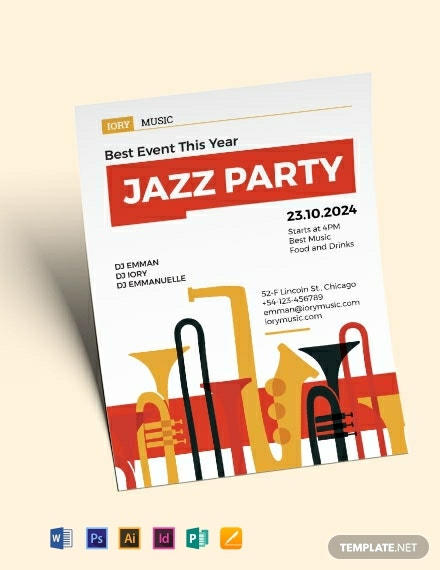 jazz flyer template 440x570 1