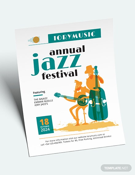 Jazz Music Event Flyer Download