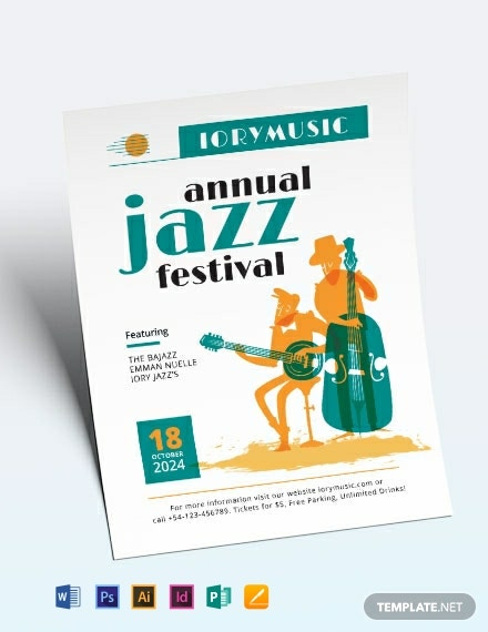 jazz music event flyer template 440x570 1