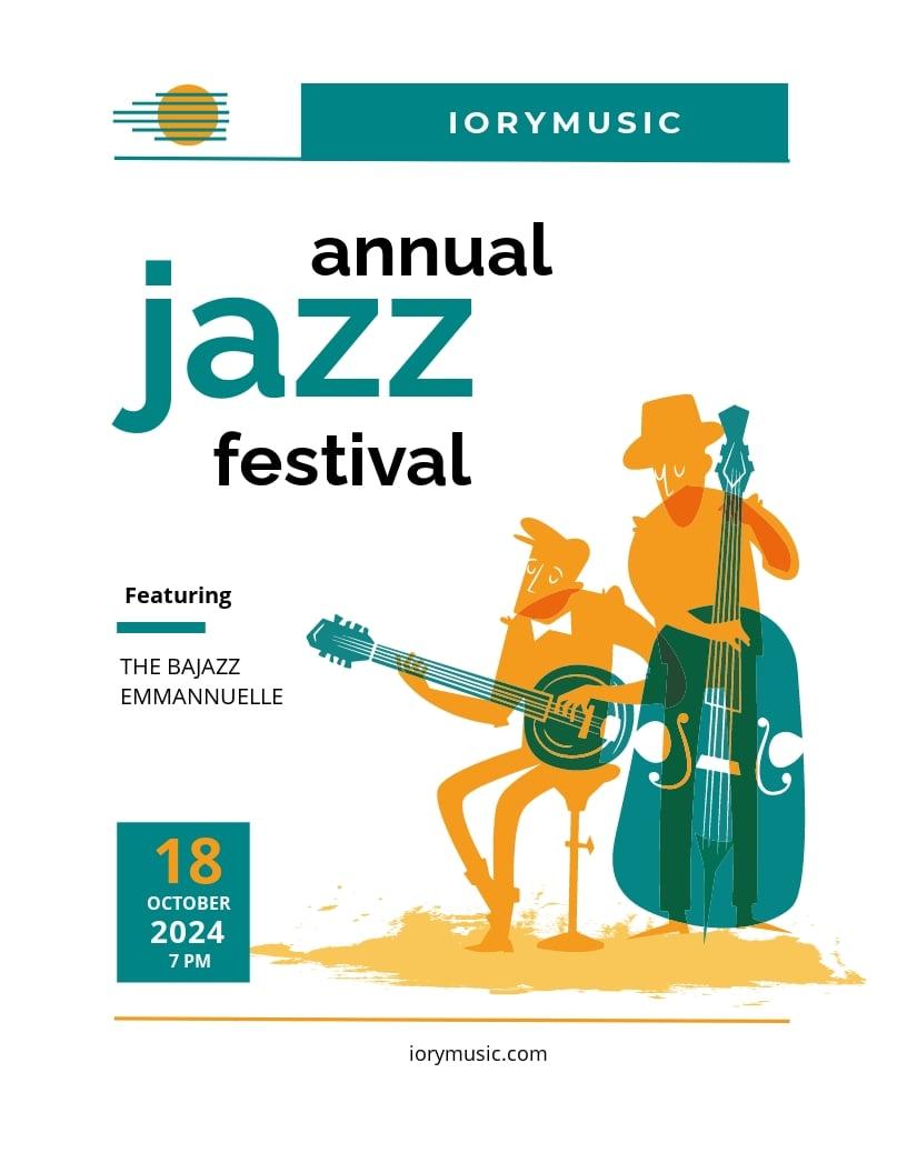 Jazz Music Event Flyer Template.jpe