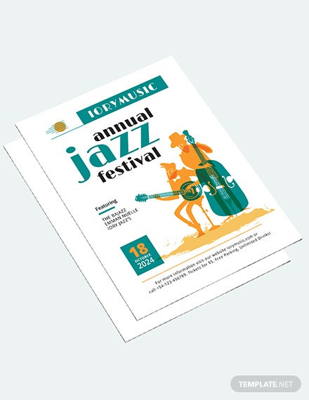 Sample Jazz Music Event Flyer