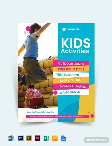 Kids Activities Flyer Template