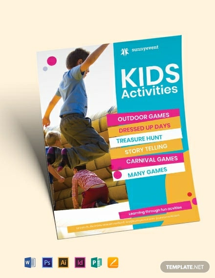 kids activities flyer template 440x570 1