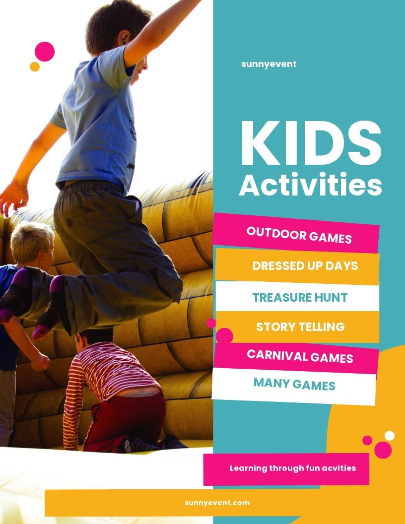 Kids Activities Flyer Template