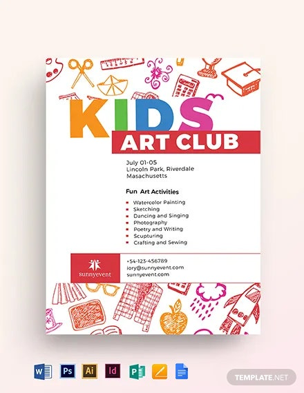 Kids Club Flyer Template