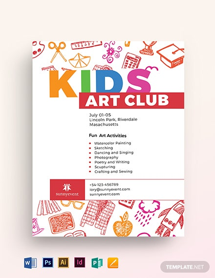 kids club flyer template 1