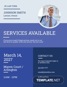 Lawyer & Law Firm Flyer Template