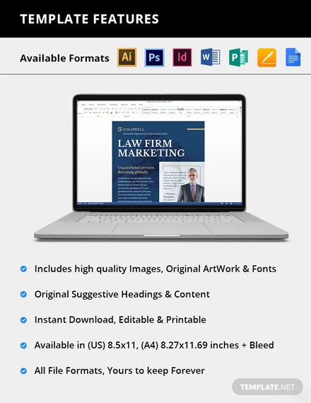 Editable Law Firm Marketing Flyer