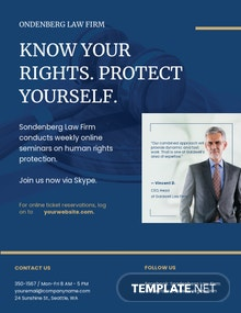 Law Firm Marketing Flyer Template