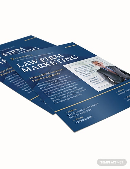 Sample Law Firm Marketing Flyer