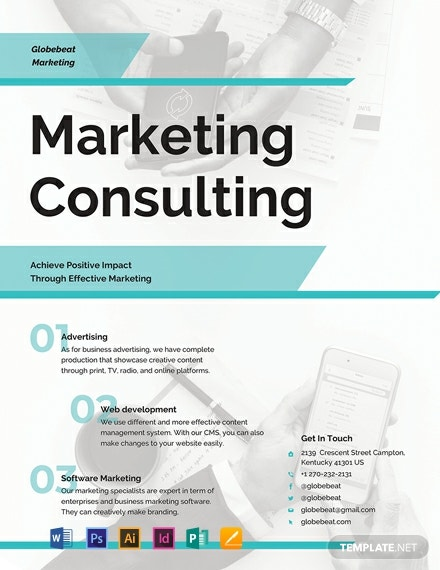 business marketing consultant flyer template 440x570 1