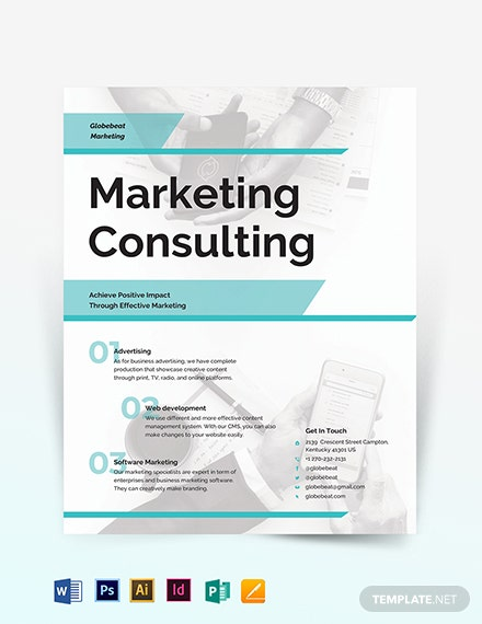 Business Marketing Consultant Flyer Template