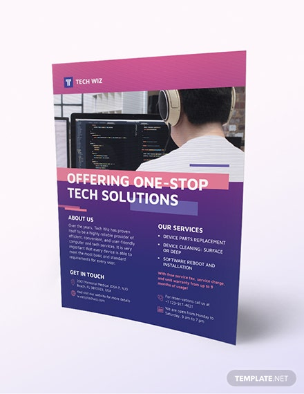 Professional Services Flyer Download