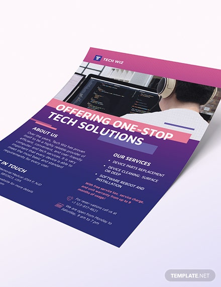 Sample Professional Services Flyer
