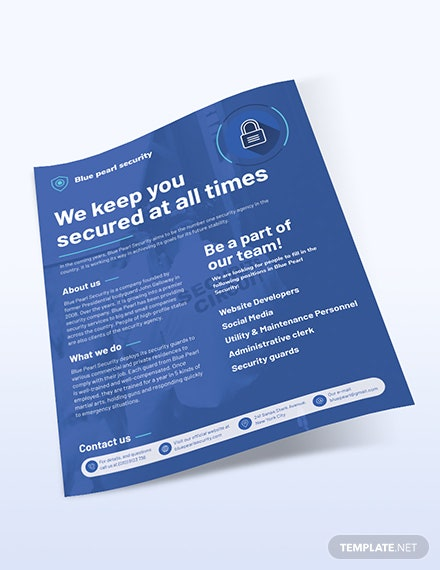 Sample Security Services Company Flyer