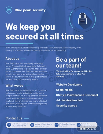 security company flyer mockup 440