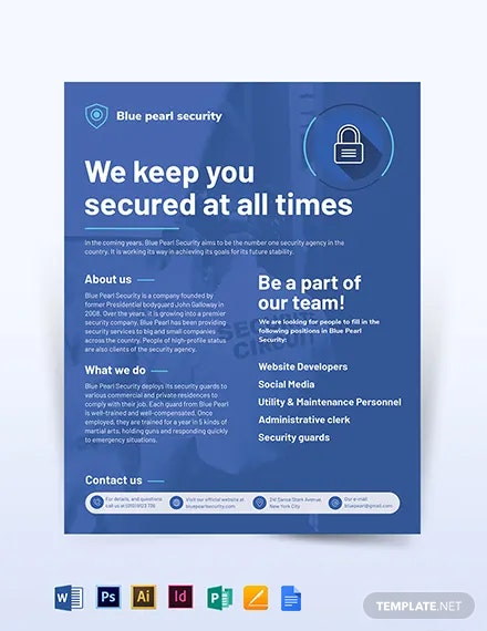 Security Services Company Flyer Template