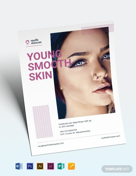 skin care clinic flyer template 440x570 1