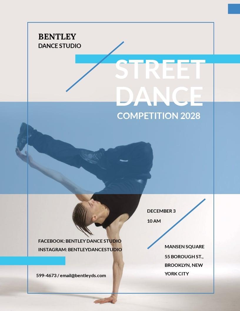 Street Dance Flyer Template