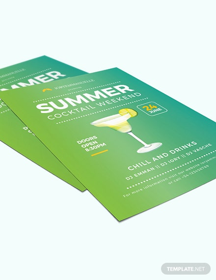 Sample Summer Cocktail Party Flyer