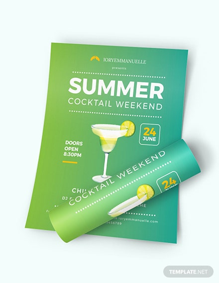 Summer Cocktail Party Flyer Download