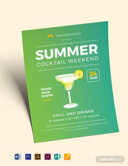 summer cocktail party flyer template 440x570 1