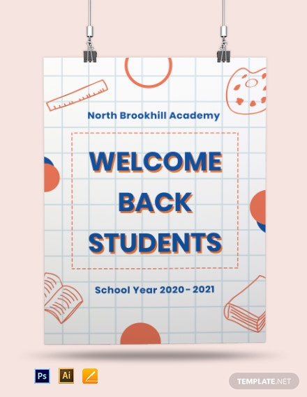 Back To School Poster Template Download 51 Posters In Illustrator