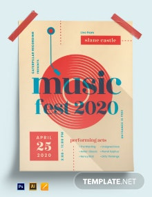 Musical Event Poster Template