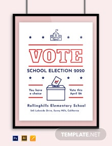 School Campaign Poster Template