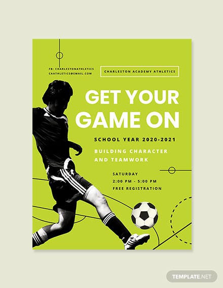 Sports Club Poster Template