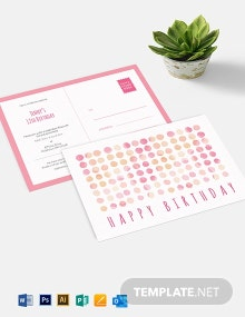 Birthday Invitation Postcard Template