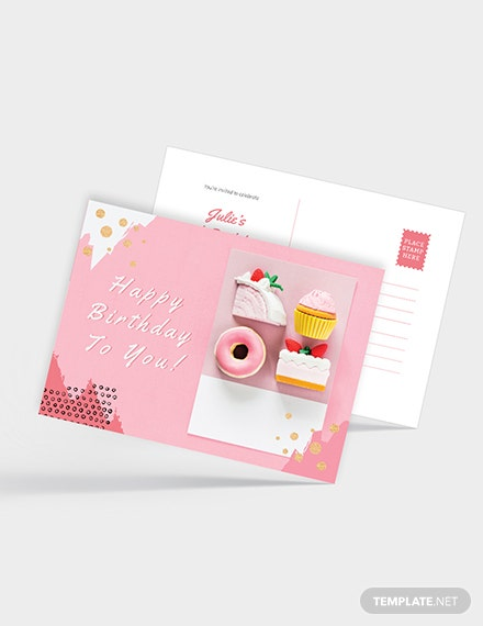 Sample Birthday Party Postcard