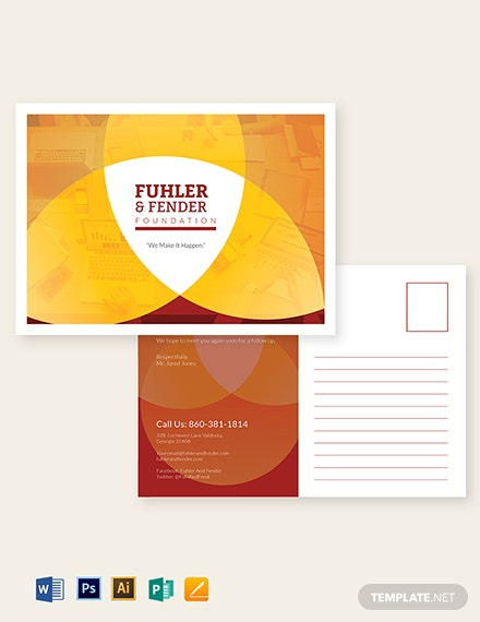 Business Advertising Postcard Template
