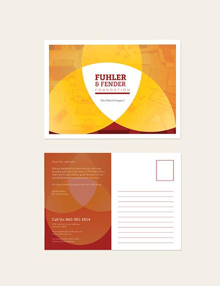 Sample Business Advertising Postcard