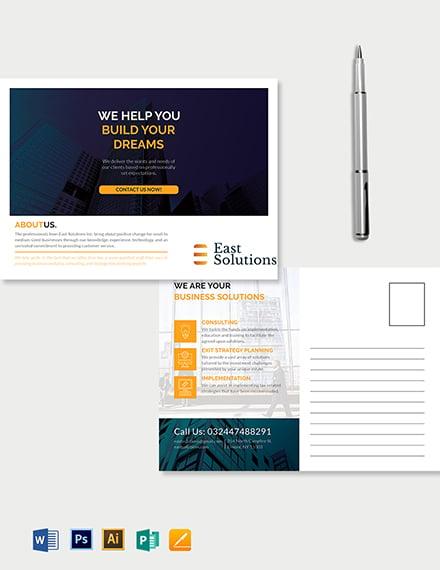 Corporate Business Postcard Template