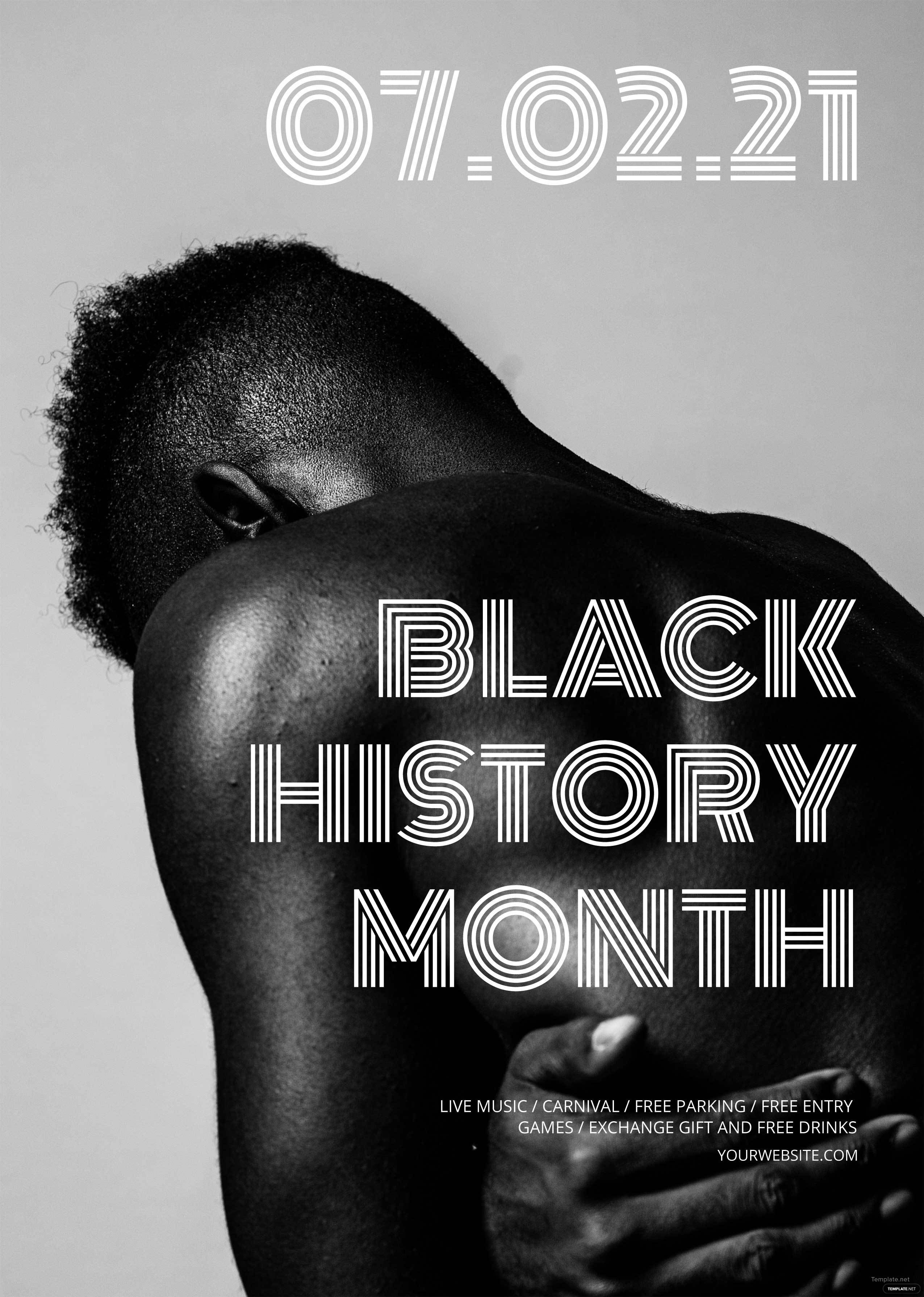 free black history month flyer template in adobe photoshop
