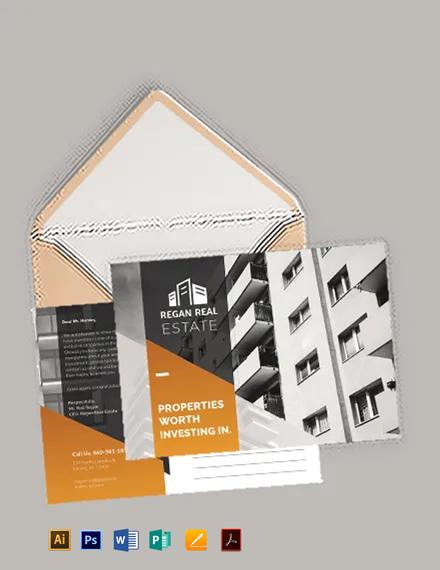 Real Estate Advertising Postcard Template