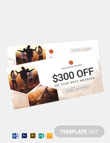 Airline Travel Voucher Template