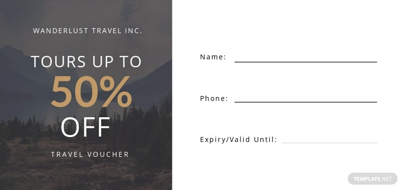 Blank Travel Voucher Template